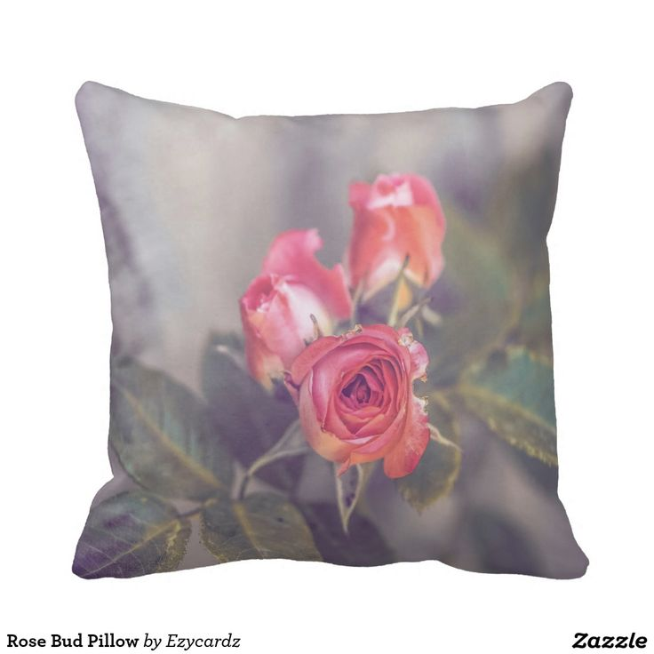 Rose Bud Pillow For Sale http://www.zazzle.com/rose_bud_pillow-189617277317983571