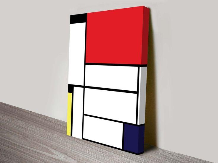 Mondrian Tableau II By Piet Mondrian