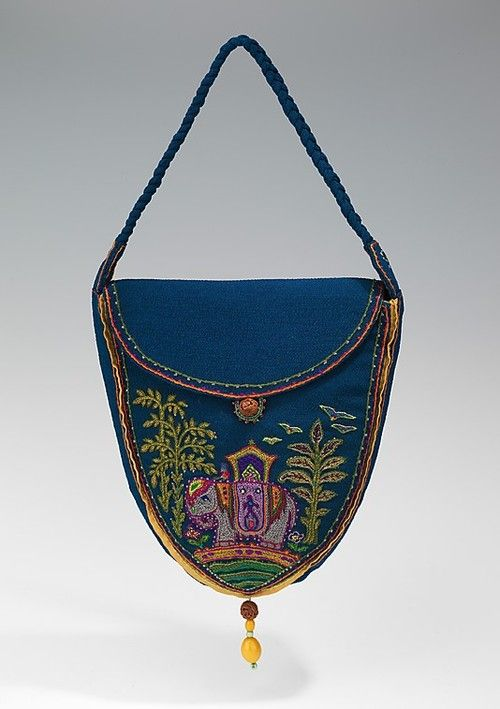 This indian purse is a perfect example of orientalism.  Its a beautiful purse and the elephant on the bag is an indicator that it has indian influence