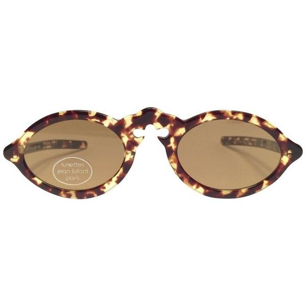 Preowned New Vintage Jean Lafont Tortoise Cat Eye Sunglasses 1980's... ($499) ❤ liked on Polyvore featuring accessories, eyewear, sunglasses, brown, vintage cat eye sunglasses, vintage cat eye glasses, brown sunglasses, vintage 80s sunglasses and vintage tortoise shell sunglasses