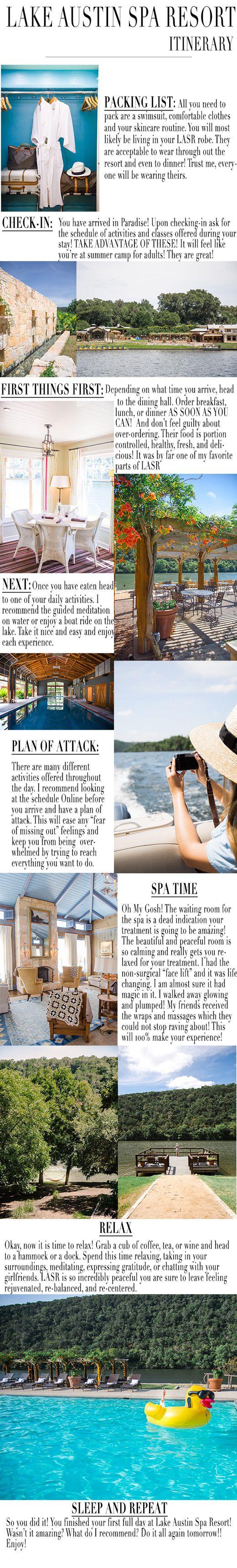 Lake Austin Spa Resort Itenerary | So Then They Say Blog