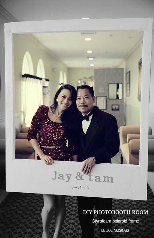 85 best anniversary party images on pinterest words 50th wedding diy polaroid frame6 solutioingenieria Image collections