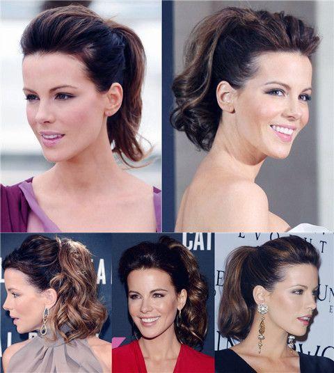 Kate Beckinsale Hairstyles: Voguish Ponytails