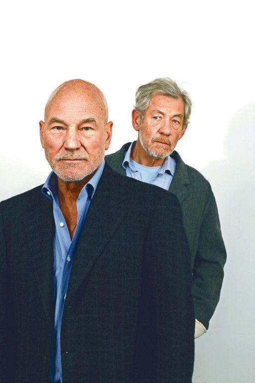 Playas.    Patrick Stewart & Ian McKellen.