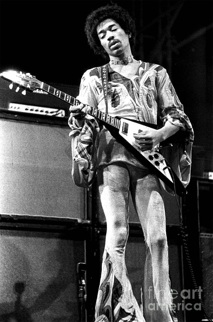 Jimi Hendrix at the Isle of Wight, August 30 1970, his final UK performance, by Chris Walter