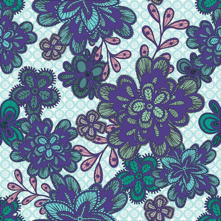Lovely lace blue