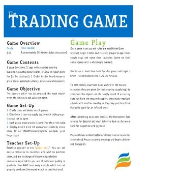 Options trading simulation game
