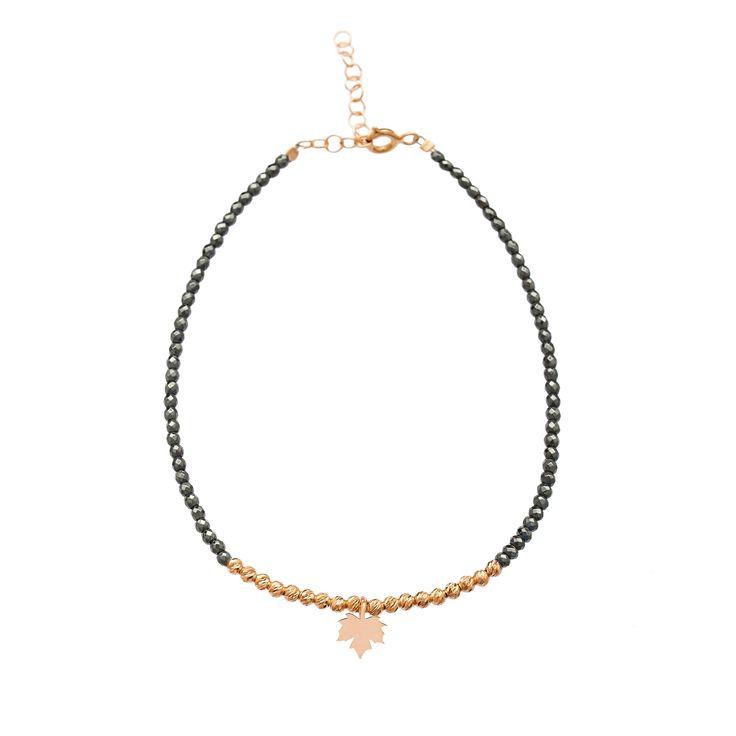 Maple Leaf 2017 New Added Fashion Hematite Beads Stone Bracelet Jewelry Product