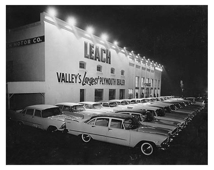 Leach Motors Chrysler Plymouth Dealership Fresno California Mopar Car Dealership Car Memorabilia