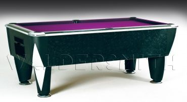 7ft Le Noir English Pool Table - The Le Noir has been engineered to perfection; a soundproofed Proactive cushion system provides the most consistent ball response possible during the game, and the playing area is bordered by smart chrome corner plates on the top frame. A strong build, unique style and magnificent game-play all help cement the Le Noir's status as a premier English pool table, and the one that's used for all major English pool tournaments in both the UK and Europe.