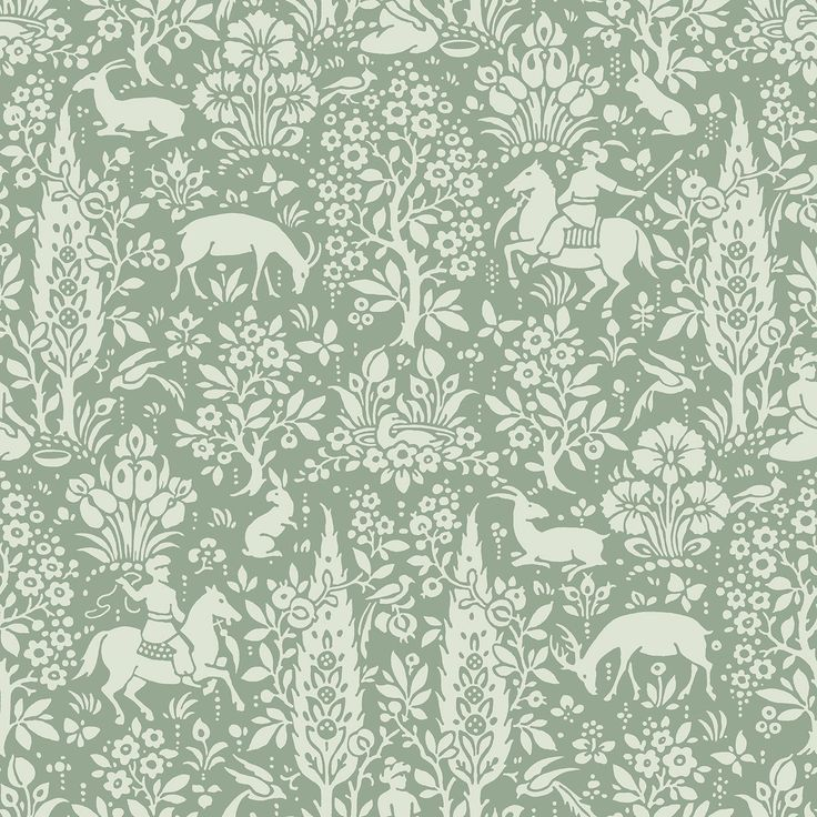The Woodland design offers traditional, intricate patterns that tell a compelling story. Originally launched in the 1850's, the distinctive woodblock artwork is still on trend today. With a mixture of soft neutrals and rich hues, you can create an enchanting woodland forest theme in your home. A guaranteed conversation starter!