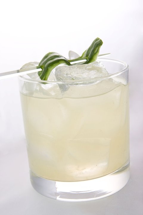 Cucumber Gimlet made with Bombay Sapphire gin, muddled fresh cucumber ...