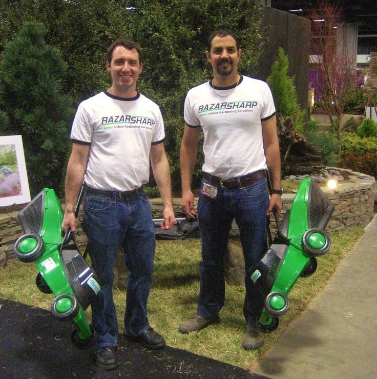 Ramzy And Matt From Razarsharp Inc. Hanging Out At The Washington Home And  Garden Show