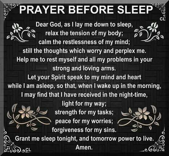 Prayer before sleep