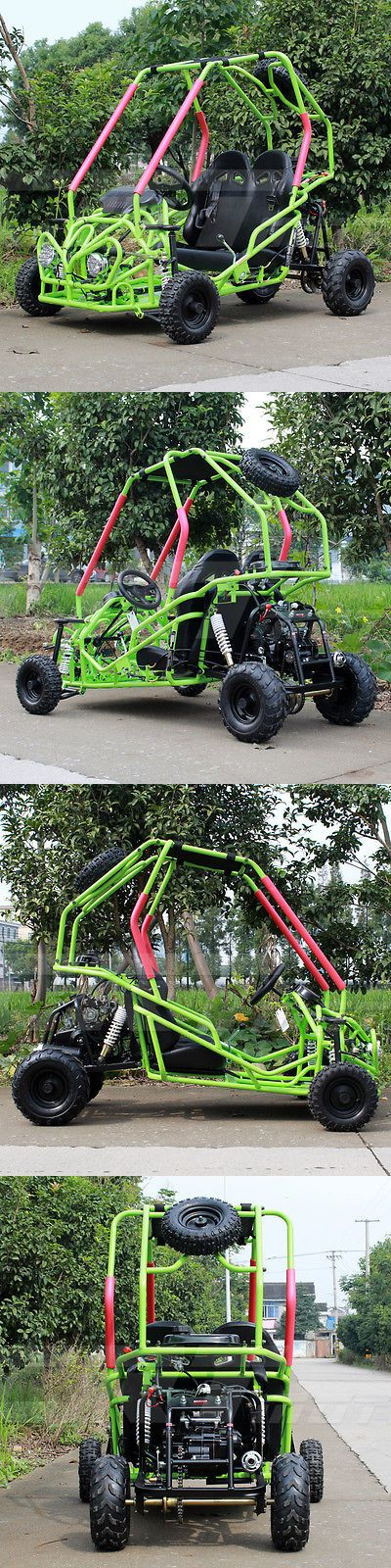 Complete Go-Karts and Frames 64656: Df-Moto 110Cc Go Kart Green Df110gkb Steel Wheels Kids Buggy Go Karts 4 Wheelers BUY IT NOW ONLY: $995.95