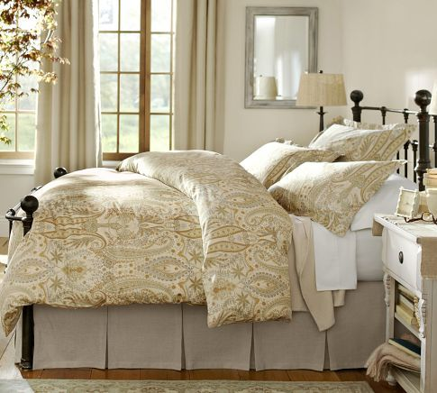 pottery barn bed skirts 1