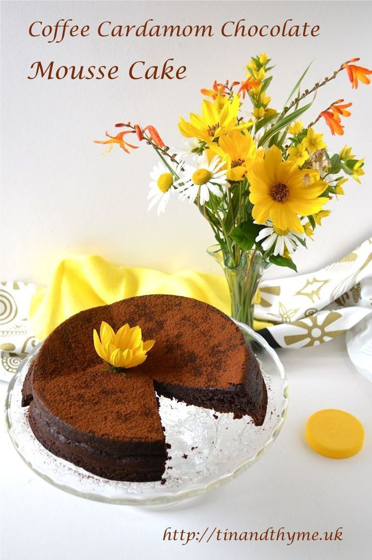 Coffee Cardamom Chocolate Mousse Cake - squidgy, decadent and ...