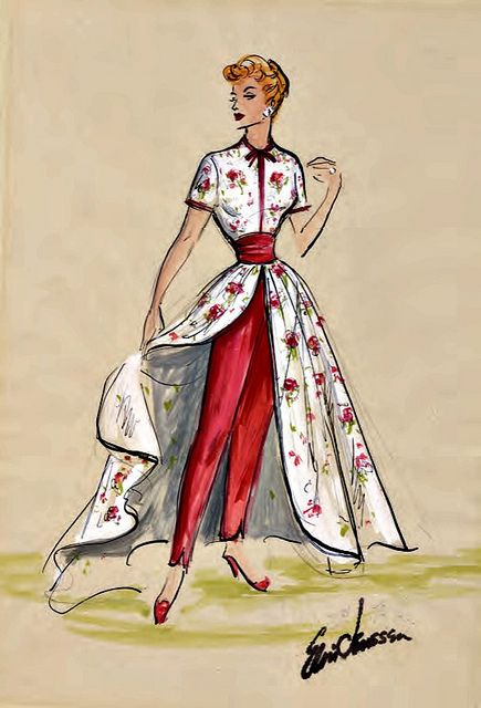 "I Love Lucy"" Costume Sketch by Elois Jenssen 