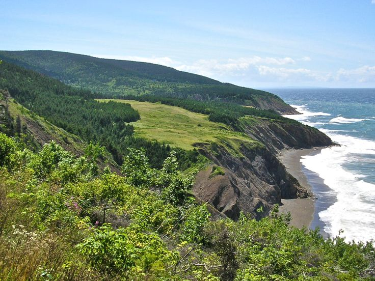 Overlooking the meadows and the coast from the MacKinnons Brook Trail. Access this trail, and many others, from either Mabou Coal Mines or from Sight Point, Inverness.