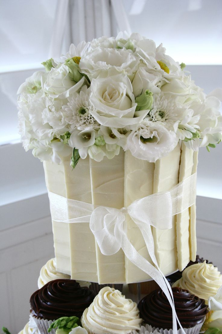 40 best wedding cake collection sweet lily cakesno longer top tier cake with white chocolate panels and fresh flowers dhlflorist Choice Image