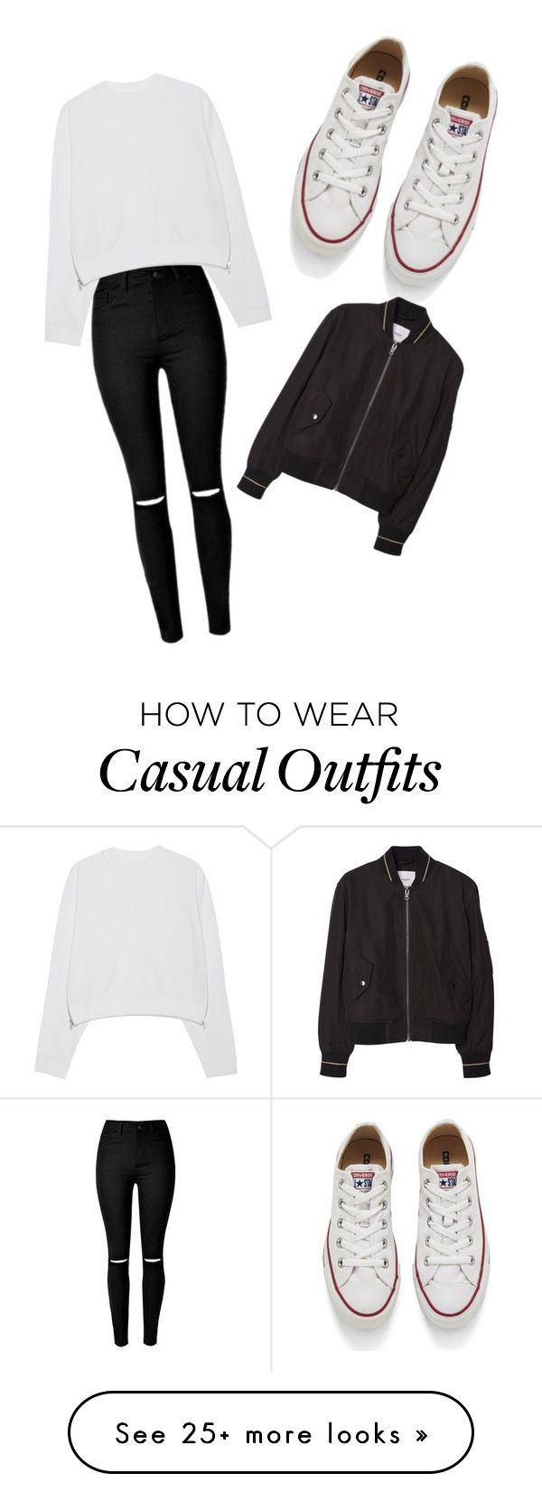 """casual"" by delaney-mutch on Polyvore featuring Acne Studios, Converse, MANGO, women's clothing, women, female, woman, misses and juniors"