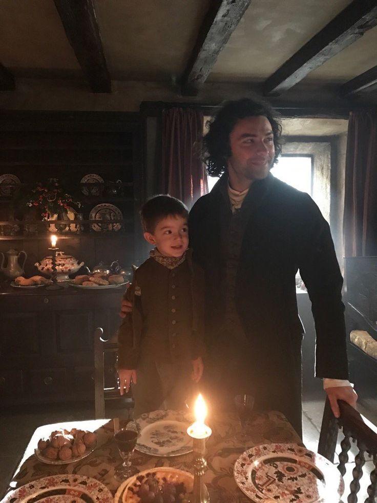 Ross and Jeremy Poldark  Season 3  source: Beatie Edney  Instagram