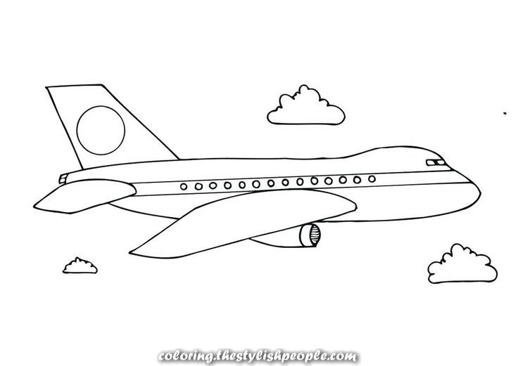 Printable Airplane Coloring Pages Coloriage Avion Coloriage Coloring Pages