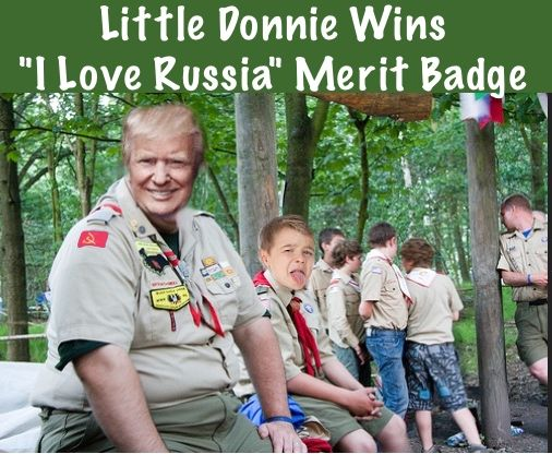 Hopefully all the kids got their rabies shots before getting near the fat Russian.