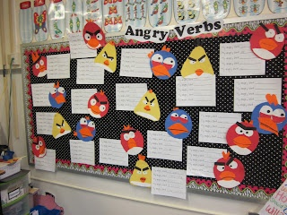 """Super awesome verb activities: cat with shoes, angry verbs """"First Grade Fairytales: Angry Verbs"""""""