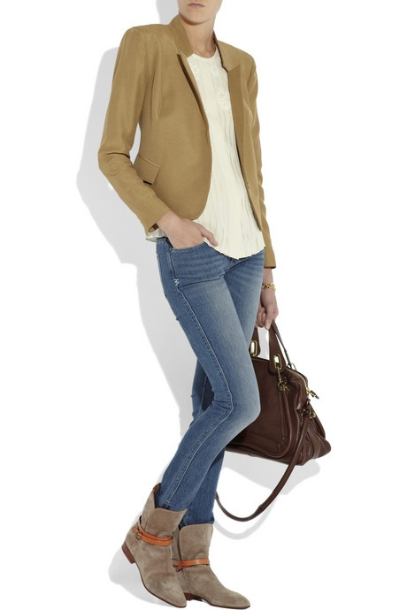 flat ankle boots with jeans - photo #1