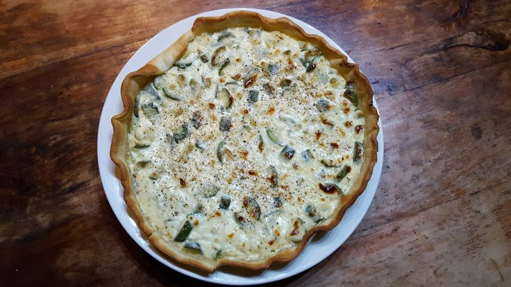 torta salata al mascarpone taleggio e zucchine