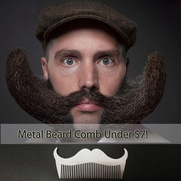 Beard Bro Stainless Steel Beard Shaping Tool Mustache Comb