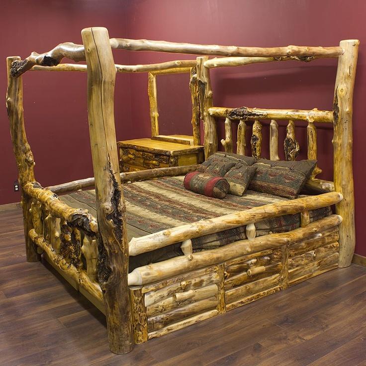 yep yep - 13 Best Log Canopy Beds Images On Pinterest