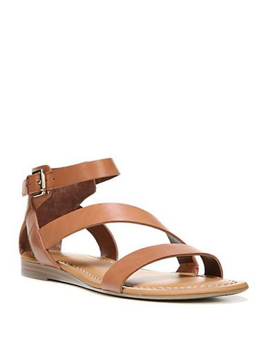 Franco Sarto Gracia Leather Sandals Women's Saddle 6