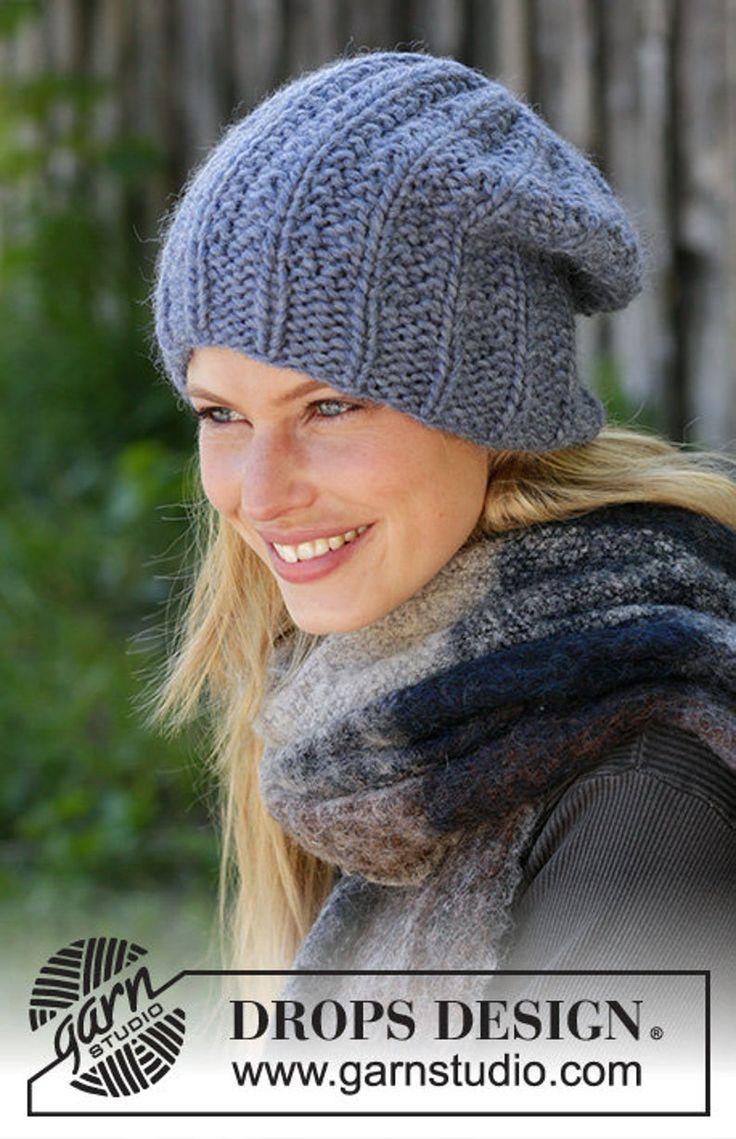 Hand knitted women's hat, wool hat, cozy wool hat, woman ...