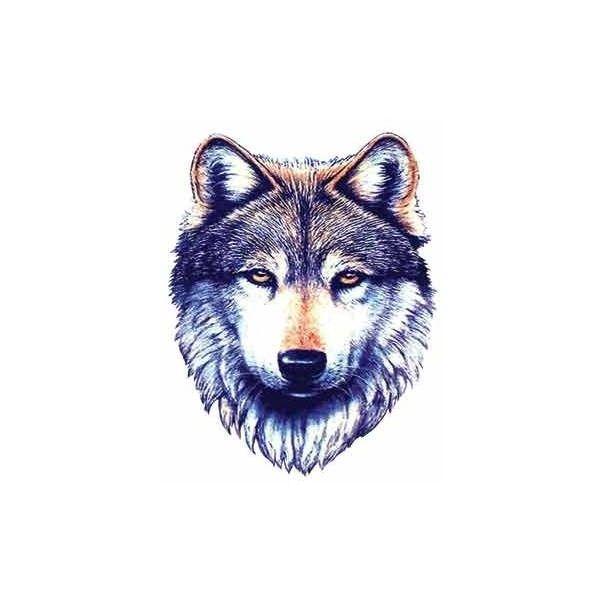 WOLF TATTOO » Wolf Tattoos   Tribal Wolf Tattoo ❤ liked on Polyvore
