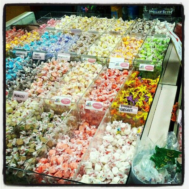 Get your sweet tooth fix! Sweet Spot in Emerald Isle, NC. Yummy salt water taffy and delicious Hershey Ice Cream. You have the try the Chocolate Rocky Road!