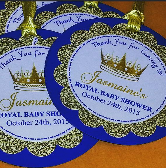 Royal Prince Favor Tags Royal Prince Stickers by ADTRCustomDesigns