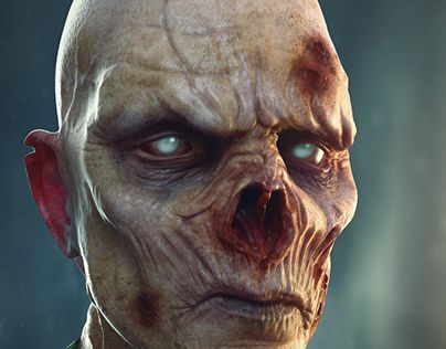 """Check out new work on my @Behance portfolio: """"Zombie"""" http://be.net/gallery/45960453/Zombie"""
