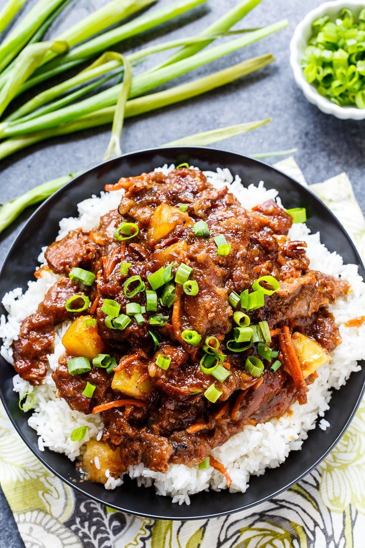 Spicy Mongolian Beef and Pineapple