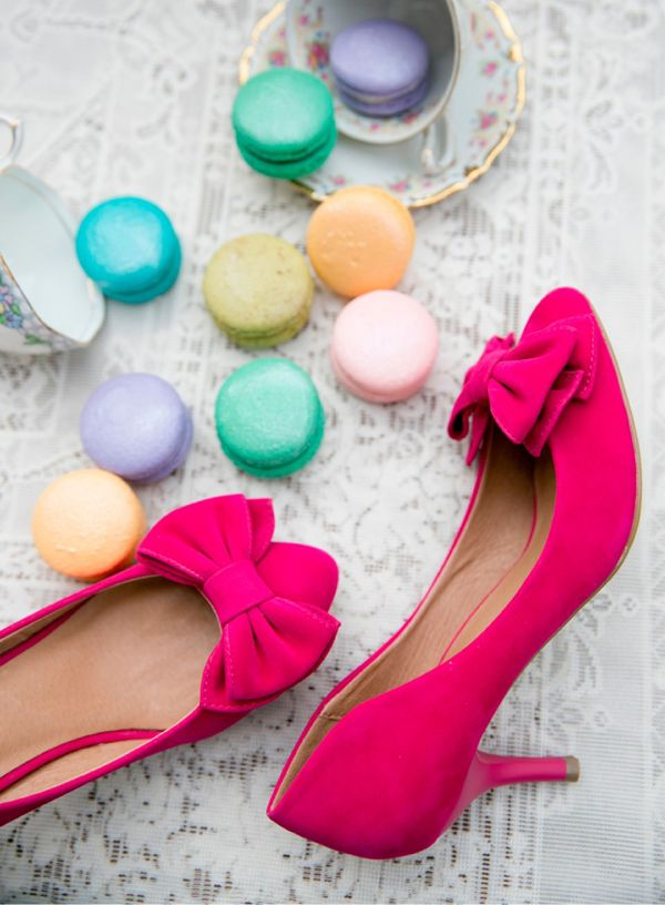 party shoes and macaroons...