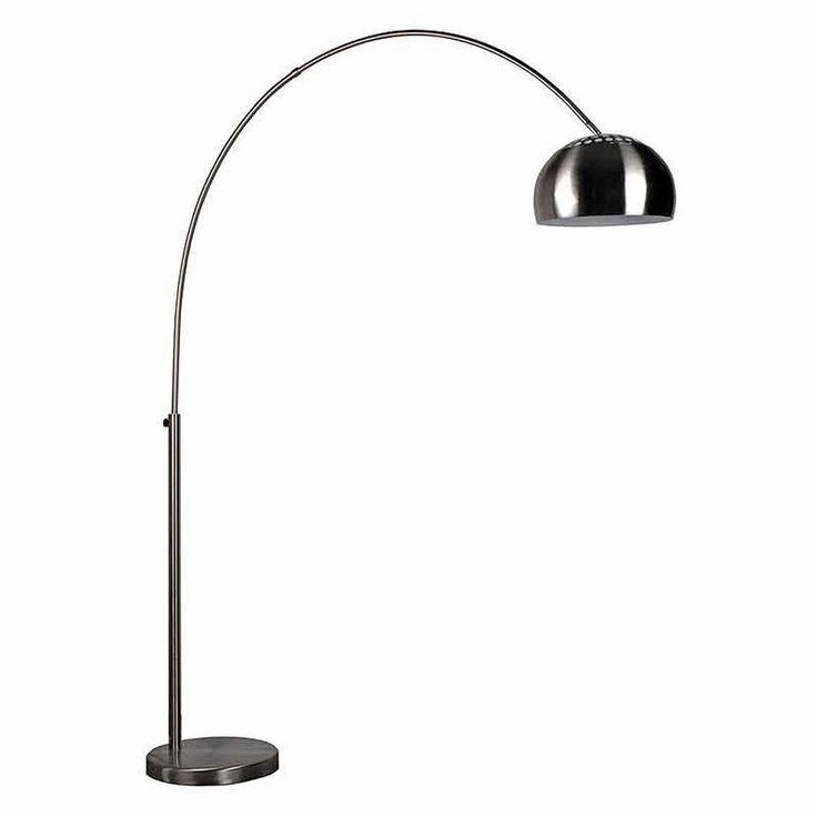 Metal Bow vloerlamp, Chroom