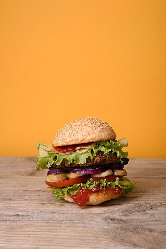 Grilled burger by Iuliia Leonova on @creativemarket