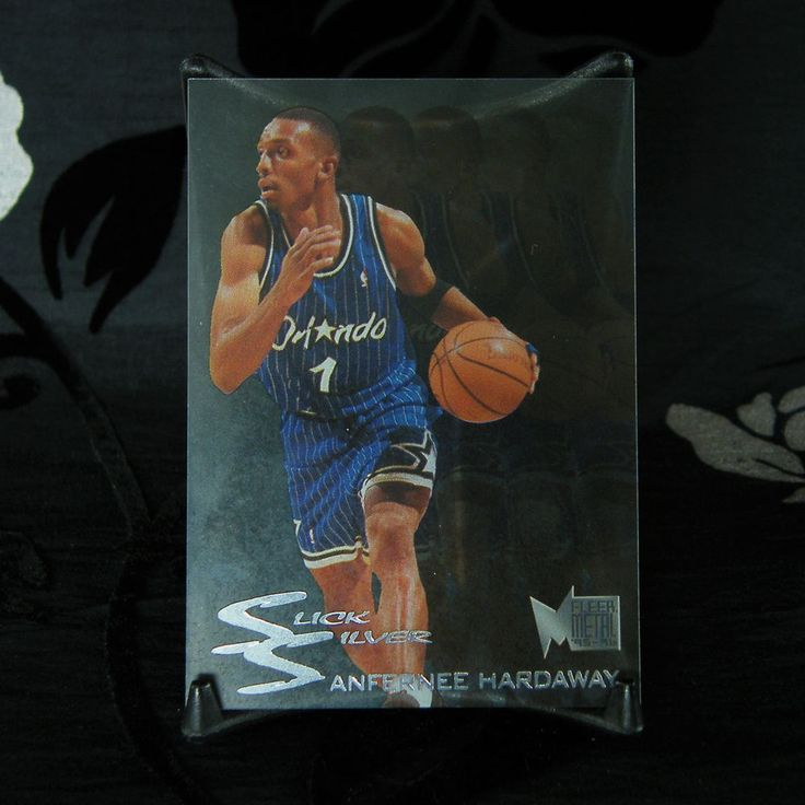 This is a Fleer Metal Slick Silver clear acetate insert card with metallic print, 1995-96. 1x Anfernee Hardaway Orlando Magic basketball card number 2 of 10. | eBay! #RavensSanctum