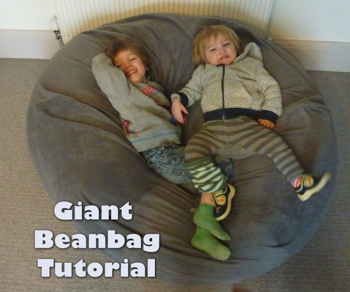 Giant Bean Bag Tutorial. I'll probably never make it, but it looks awesome and surprisingly easy.