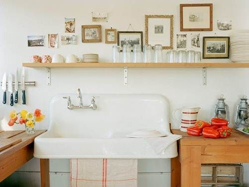 Vintage Kitchen Sinks freestanding. another option to mouse proof