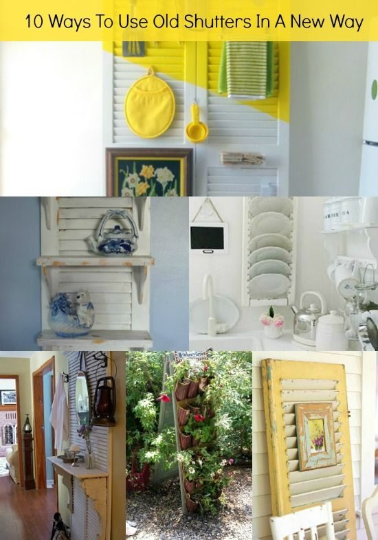10 Ways To Use Old Shutters In A New Way