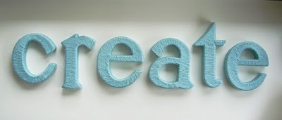 Yarn covered letters that will eventually be hung on my wall...