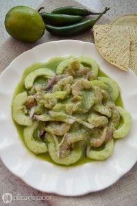 Aguachile de camarón www.pizcadesabor.com