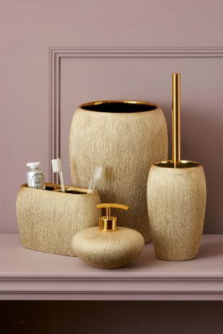 its all about the finishing touches and our gold bathroom accessories ooze glamour